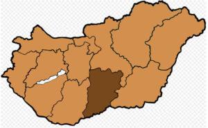 Lage der Erzdiözese Kalocsa-Kecskemet in Ungarn